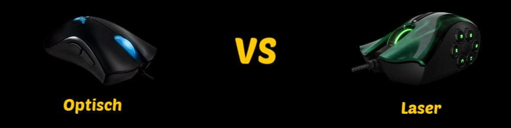 optische maus vs laser maus banner