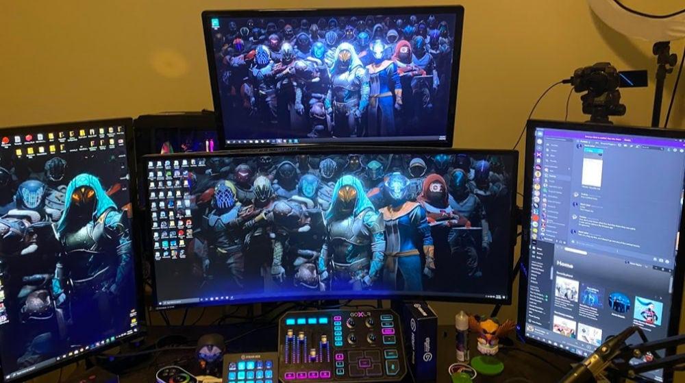 ein typisches streaming pc setup